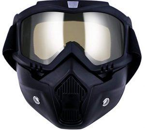 Máscaras antipolución TedGem para motocicletas con gafas desmontables