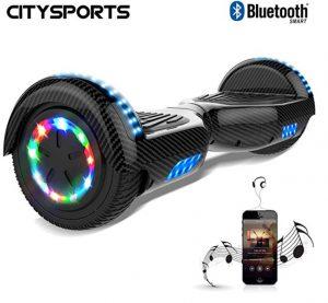 Patinete eléctrico para niños CitySports con luces en las ruedas