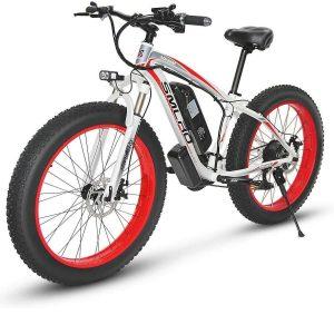 Bicicleta eléctrica de montaña con luz LED