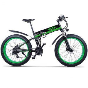 Bicicleta eléctrica de montaña con medidor inteligente