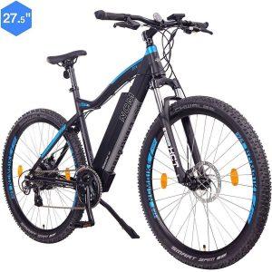 Bicicleta eléctrica de montaña moderna