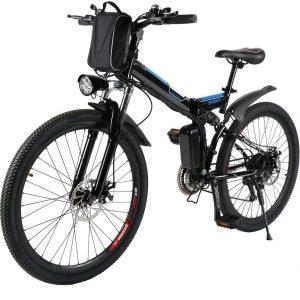 Bicicleta eléctrica plegable con neumáticos resistentes