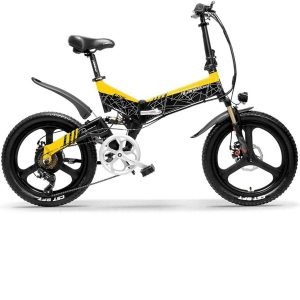 Bicicleta eléctrica plegable moderna