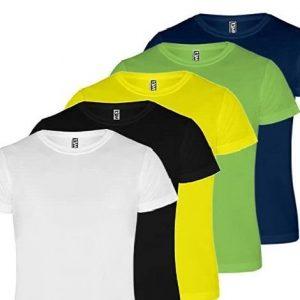 Camiseta técnica de running transpirable