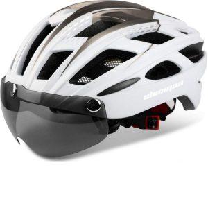 Casco de bici con luz de seguridad